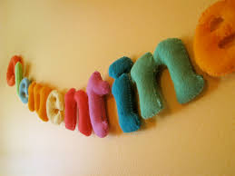 Felt Letters for Clementine\u0027s Room - Made By Rae