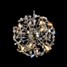 futuristic large modern chandelier with beautiful crystal sunflower cer design makes stunning style statement