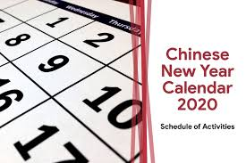 Chinese Calendar January 2020 Chinese New Year Calendar 2020 Chinese New Year 2020