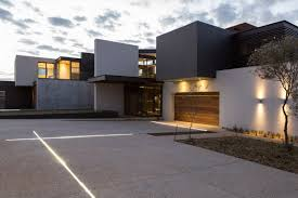 garage lighting luxurious modern residence in pretoria south africa