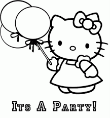Coloring pages of santa claus and hello kittyb9d9. Coloring Pages Hello Kitty Birthday Kids Activities