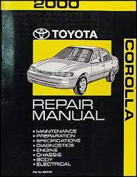 2000 toyota corolla wiring diagram manual original 2000 toyota corolla repair shop manual original 119 00