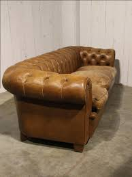antique chesterfield sofa in brown leather seating european antique warehouse