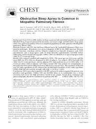 PDF) Obstructive Sleep Apnea Is Common in Idiopathic Pulmonary Fibrosis