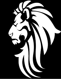 lion face black and white clipart. Black White Lion Head Clip Art Intended Face And Clipart