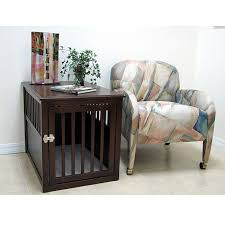 Crown Pet Large Espresso Furniture Crate Pet Crate Furniture L31