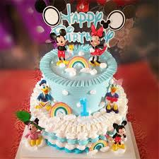 Birthday Minnie Mickey Decoration Cake Topper Toys For Baby Kids