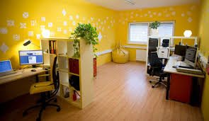 Yellow Office Office Interior Wall Design Ideas With Yellow Office With