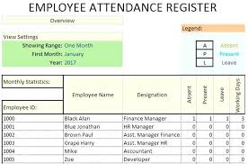 Attendance Report Template Impressive Employee Information Form Excel And Word Templates Register Template