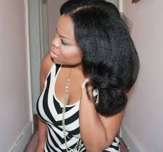 Natural Black Hair Style natural hair blow out flexi rods big hair with texture 1728 by wearticles.com