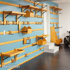 organize your garage and cut the clutter with this garage storage system that you can easily customize to fit any space and can hold just about anything