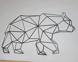 geometric buffalo metal art basic design everyday pinterest on geometric bear wall art with geometric metal wall art yasaman ramezani