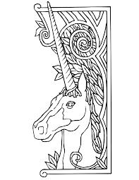 Small Picture Unicorn Coloring Page Unicorn With Fancy Border Unicorn