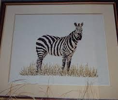 Zebra On Safari Cross Stitch Chart