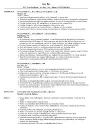 International Coordinator Resume Samples Velvet Jobs