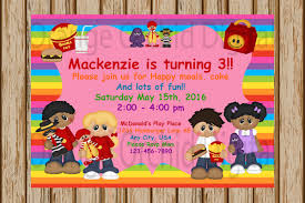 playground invite mcdonald s birthday invitations mcdonald s playplace invitations burger invitation 5 x 7 image digital print at home