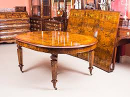 12ft bespoke handmade burr walnut marquetry dining table and 12 chairs at 1stdibs