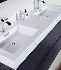 modern bathroom double sinks. Bliss 60\u2033 Double Sink Gray Oak Free Standing Modern Bathroom Vanity Vanities, Bliss, Vanities Sinks I