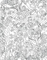 Music Coloring Sheets For Adults Free Pages Color Page Pdf