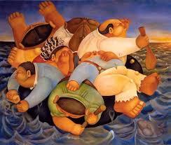 Balseros cuadro de Alberto Godoy