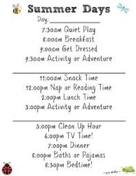 Summer Daily Schedule Template 163 Best Summer Schedule Images Educational Activities Kids