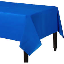 plastic table cover bright royal blue