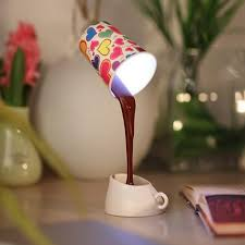 hot creative coffee pour lamp with usb battery diy table lamp eye protection desk lamp peculiar