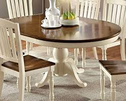 Dark dining room furniture Traditional Image Unavailable Amazoncom Amazoncom Harrisburg Whitedark Oak Oval Dining Table By