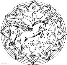 Mandala Licorne Unique Kawaii Doodle Rachel Doodles Coloriages