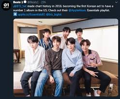 Bts Made Chart History In 2018 Becoming The First Korean