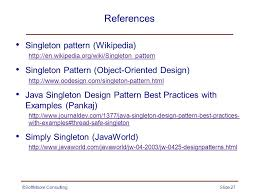 Singleton Design Pattern In Java Impressive The Singleton Pattern Creational Ppt Video Online Download