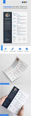 52 best resume templates word psd indd resume cv and cover letter template best designs blog