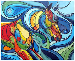 abstract running horse