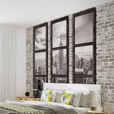New York City Bedroom Wallpaper New York City Skyline Window View Photo Wallpaper Mural 2833wm