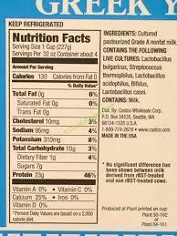 costco 558297 kirkland signature greek nonfat yogurt chart
