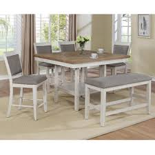 Claremont Fulton 6 Piece Counter Height Dining Set In Antique White