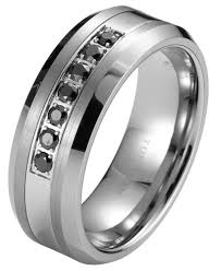 Black Diamond Tungsten Carbide Men S Wedding Ring Band 8mm Classic Mens Black Diamond Wedding Bands