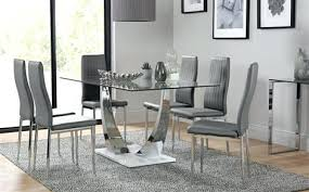 round table dining room furniture. Glass Dining Room Table And Chairs Chrome White Gloss Base With 6 Grey . Round Furniture S
