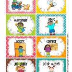 Free Printable Preschool Chore Charts Chores Job Chart