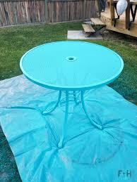 repainting metal patio furniture with