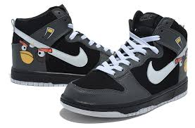 nike shoes black high tops. new nike dunk black angry bird high tops shoes i