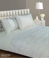 cream colour modern jacquard damask stylish bedding duvet quilt cover set