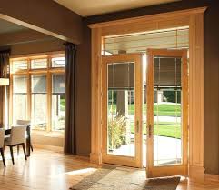pella between the glass blinds designer series hinged patio doors offer innovative between the glass blinds