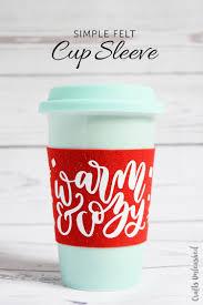 easy felt coffee cup sleeve diy