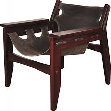 kilin lounge chair in rosewood and leather sergio rodrigues 1973