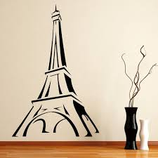 diy eiffel tower room decor new promotion paris wall decal cartoon eiffel tower wall decor sticker