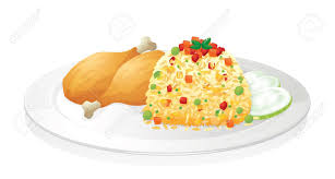 plate of food with chicken clipart. Perfect Chicken Chicken And Rice Clipart 1 Intended Plate Of Food With T