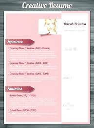 Free Creative Resume Templates Word Creative Free Printable Resume