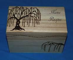 Decorative Recipe Box Decorative Wood Burned Wedding Recipe Card Box Rustic Wooden 40