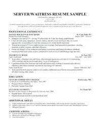 Server Resume Objective Food Service Worker Resume Objective Download Server Examples 71